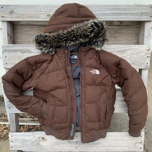North Face 550 goose down puffer jacket